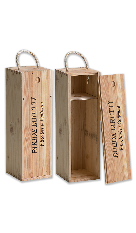 Cassetta legno per 1 bottiglia vino